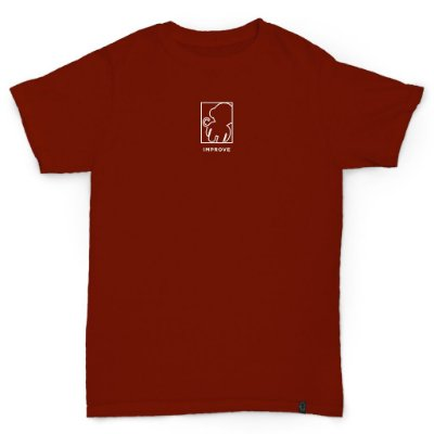 T-SHIRT OUTLINE DARK RED
