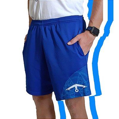 Bermuda Esportiva - (Azul/Branca/Cinza)