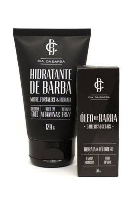 Kit para a Barba: Óleo de Barba + Hidratante de Barba CIA. DA BARBA