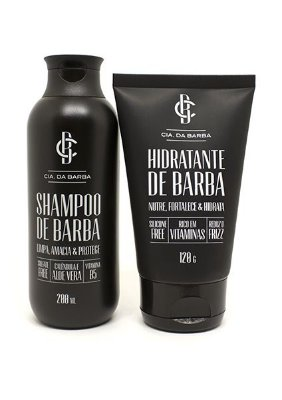 Kit para a Barba: Shampoo de Barba + Hidratante de Barba CIA. DA BARBA