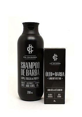 Kit para a Barba: Shampoo de Barba + Óleo de Barba CIA. DA BARBA