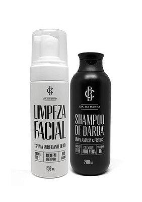 Kit para a Barba e Rosto: Limpeza Facial + Shampoo de Barba CIA. DA BARBA