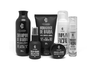 Kit para a Barba e Rosto: Shampoo de Barba + Hidratante de Barba + Óleo de Barba + Pomada de Bigode + Hidratante Facial + Limpeza Facial CIA. DA BARBA