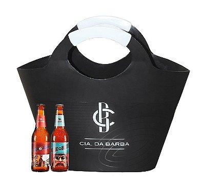 Sacola Cooler CIA. DA BARBA + Cerveja IPA Bastards + Cerveja APA Bastards