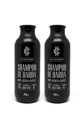 Kit para a Barba: 2 Shampoos de Barba CIA. DA BARBA