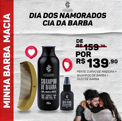 MINHA BARBA MACIA - Shampoo de Barba, Óleo de Barba e Pente de Barba