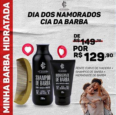 MINHA BARBA HIDRATADA - Shampoo de Barba, Hidratante de barba e Pente de Barba