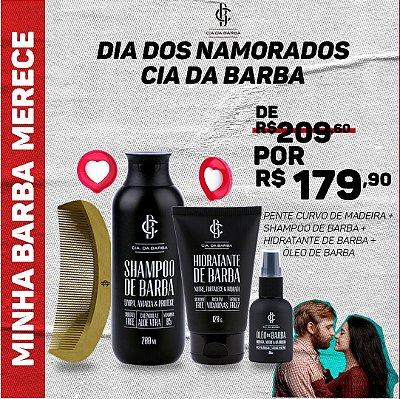 MINHA BARBA MERECE - Shampoo de Barba, Hidratante de Barba, Óleo de Barba e Pente de Barba. ***Ganhe uma necessaire***