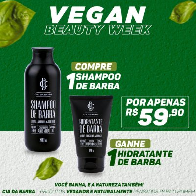 COMPRE Shampoo de Barba GANHE Hidratante de Barba