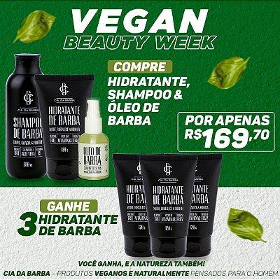 COMPRE Kit de Barba contendo Shampoo, Hidratante e Óleo de Barba e GANHE 3 Hidratantes de Barba
