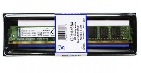 KCP316NS8/4 Memória Kingston 4GB DDR3 1600MHZ
