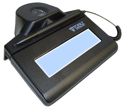 Coletor de Assinatura Topaz Systems USB TF-LBK463-HSB-R Modelo Série IDLITE LCD 1X5 Com Biometria