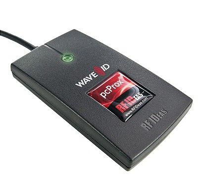 RDR-6381AKU-15652 Leitor de Crachás RFID RFIDeas PcProx Enroll Indala Deere Black USB Reader