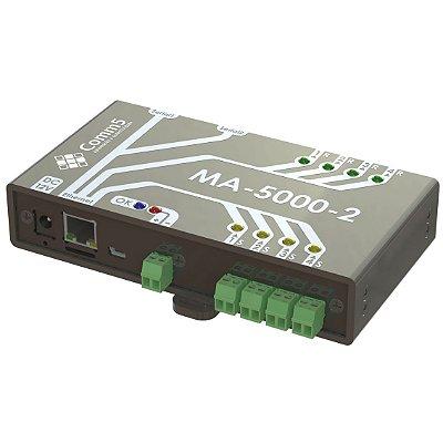 MA-50002 Módulo de Acionamento via rede 10/100 com 4 saídas e 4 entradas e 2 Seriais