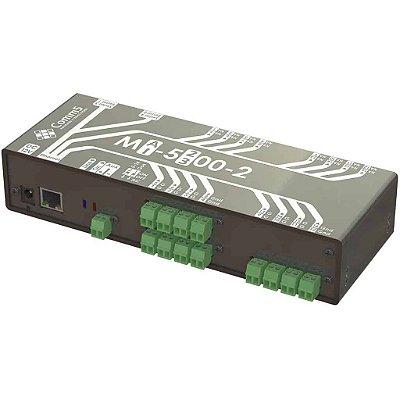 MA-52002 Módulo de Acionamento via rede 10/100 com 12 saidas e 12 entradas e 2 Seriais