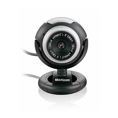 WC044 Webcam Multilaser Vision Conexão USB 2.0 Microfone Embutido 16 Megapixels