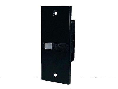 SHD-46VDB Carcaça da Lente para Batente de Porta Nivelada (preto) - Hanwha