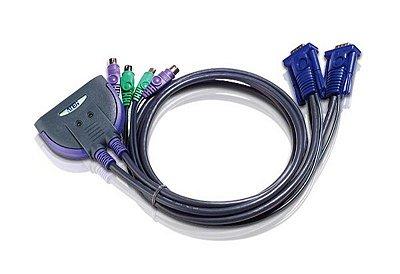 CS62 Comutador KVM de 2 portas por cabo PS/2 VGA (1,2m)
