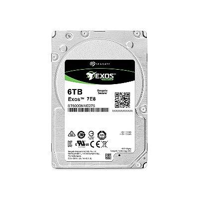 ST6000NM0275 - HD Servidor Seagate ENT 6TB 7.2K 3.5 6G 512e SATA