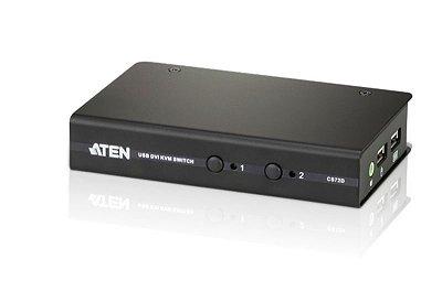 CS72D Comutador KVM fino de 2 portas USB DVI/Áudio