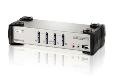 CS1734B Switch PS/2-USB VGA/Audio KVMP™ de 4 portas com OSD