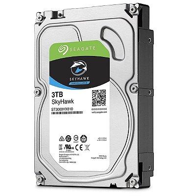 """ST3000VX010 - HD Vigilância Seagate SKYHAWK 3TB 5.9RPM 3,5"""" SATA 6GB/S"""