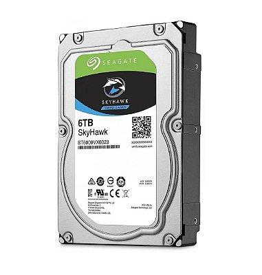 """ST6000VX0023 - HD Vigilância Seagate SKYHAWK 6TB 3,5"""" SATA 6GB/S"""