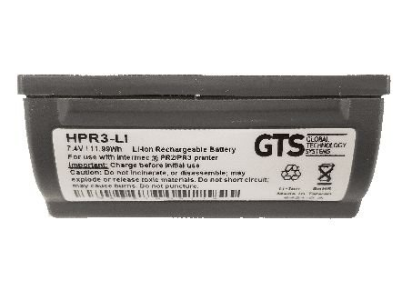 HPR3-Li - Bateria GTS Recarregável Para Impressoras Intermec PR2 / PR3