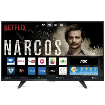 43S5295 TV 43P AOC LED SMART WIFI FULL HD USB HDMI