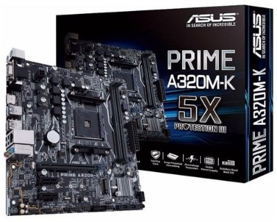 90MB0TV0-M0EAY0 Placa-Mãe Asus (PRIME A320M-K) AMD AM4 DDR4 Micro ATX