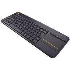 920-007125 Teclado sem fio Touch K400 Plus Compatível com Smart Logitech
