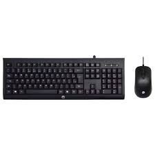 30652 KIT Teclado e Mouse USB Gamer Km100 Preto Hp