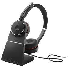 7599-832-199 Jabra Headset sem fio Evolve 75 Stereo MS, Link 370 e Base recarregamento (USB)