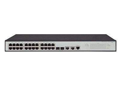 Switch 1950 Gerenciável 24G 2SFP+ 2x 1/10Gb Base-T com 24x 10/100/1000Mbps RJ45 + 2x portas 10G SFP+ e 2x portas 10G RJ45 - HPE / JG960A