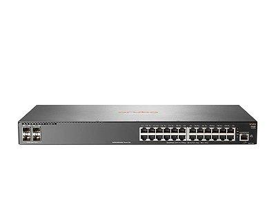 Switch 2930F Gerenciável 24G 4SFP+ com 24 portas 10/100/1000 Mbps RJ45 + 4 portas SFP+ (1/10G) - Aruba / JL253A