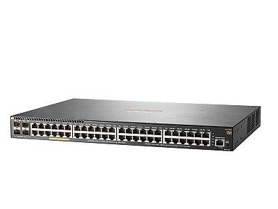 Switch 2930F Gerenciável 48G 4SFP+com 48 portas PoE+10/100/1000 Mbps RJ45 +4 portas SFP+(1/10G) (Potencia PoE: 370W) - Aruba / JL256A