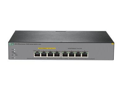 Switch 1920S Gerenciável 8G com 8x 10/100/1000Mbps RJ45 (sendo 4x PoE+) (Potencia PoE+: 65W) -  HPE / JL383A