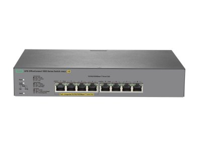 Switch 1820 Gerenciável Giga 8G PoE+ 65W 8portas 10/100/1000Mbps - HPE / J9982A
