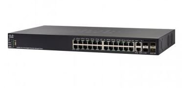 Switch Cisco SG550X-24P 24 portas Gigabit PoE Stackable / SG550X-24P-K9-NA