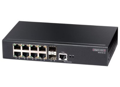 Switch Edge-Core 8 Portas 10/100/1000 Gerenciável L2/L4 + 2 SFP - ECS2100-10T