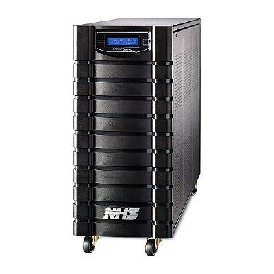 91.C0.026000 Nobreak NHS Laser Senoidal 2600VA E.Bivolt S.120V ou Conf 220V Bat 2x45Ah/24V 8 tomadas