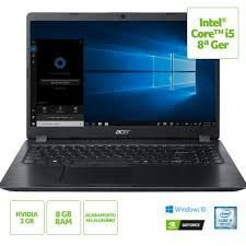NX.H9HAL.004 Notebook Acer A515-52g-58lz Intel Core I5 8265u 8gb 1tb 15,6 Geforce Mx130 2gb Windows 10 Home Preto