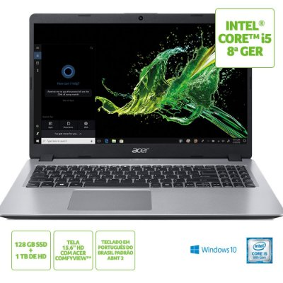 NX.HDAAL.002 Notebook Acer A515-52-56a8 Intel Core I5 8265u 8gb SSD M.2 Sata 128gb + HD 1tb 15,6 Windows 10 Home