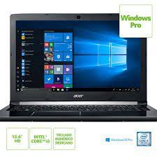"NX.GQBAL.008 Notebook Acer A515-51-58dg Intel Core I5 7200u 4gb 1tb 15,6"" Windows 10 PRO Preto"