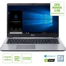 NX.HD9AL.005 Notebook Acer A515-52g-79h1 Intel Core I7 8565u 8gb SSD M.2 Sata 128gb + HD 1tb 15,6 Geforce MX 130 2gb Windows 10 Home