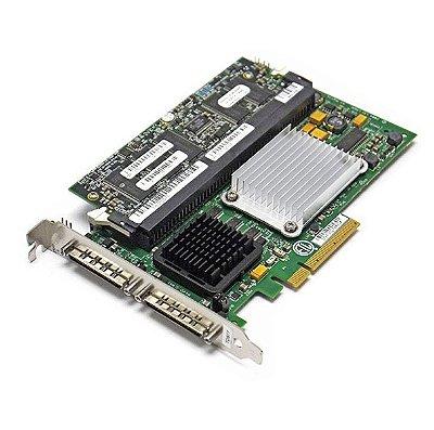 0X6847 Placa Controladora RAID PCI-E PCI-E Dell PERC 4e / DC de 128 MB