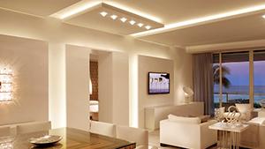 LED em sancas de gesso