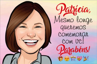 CARTÃO DIGITAL COM CARICATURA
