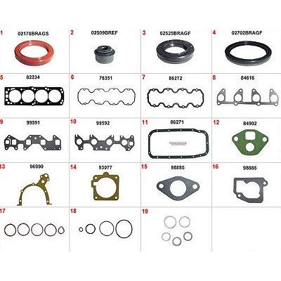 JUNTA MOTOR CORSA 1.6 / 1.8 / MERIVA / MONTANA / FIAT 1.8 8V COM RETENTOR