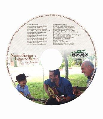 """CD """"Em Família"""" - Nenito Sarturi e Leonardo Sarturi"""